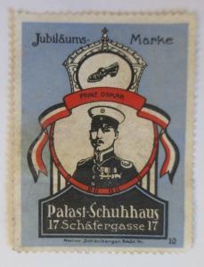 Vignetten Jubliläums-Marke Palast Schuhhaus Frankfurt a.M.  ♥ (9781)