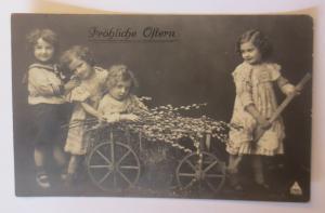 Ostern, Kinder, Mode, Matrose, Wagen, Weidenkätzchen, 1912  ♥ (19159)