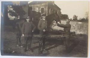 Deutscher Offizier mit Pferd, Fotokarte (27064)