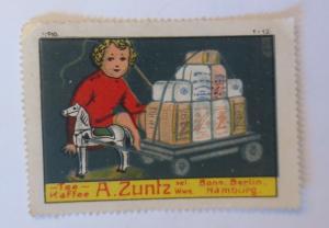 Vignetten Tee Kaffee A. Zuntz Bonn Berlin Hamburg 1910 ♥ (464)