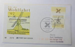 Ersttagsbrief  Schleswig-Holsteinische Schöpfwindmühle 1997 ♥ (5361)