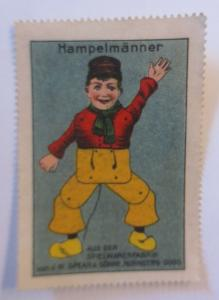 Vignetten  Hampelmänner aus der Spielwarenfabrik Nürnberg-Doos. 1910 ♥ (6424)