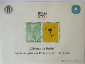 Olympia Berlin 2000 Vignettenblock (35379)