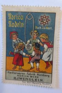 Vignetten Norica Nadeln Nadelwaren Fabrik Nürnberg 1910 ♥ (16596)