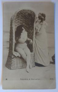 Bademoden, Frauen, Strandkorb, Meer, 1900, Frankreich ♥  (68935)