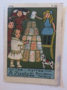 Vignetten Tee Kaffee A. Zuntz, Bonn, Berlin, Hamburg  1910 ♥ (17452)