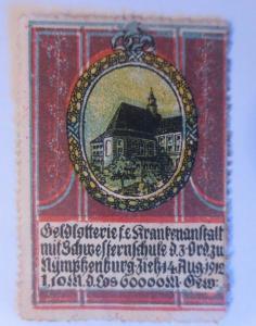 Vignetten, Lotterie,Nymphenburg Schwesternschule,1912 ♥ (29223)