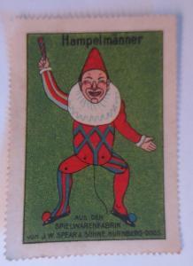 Vignetten  Hampelmänner aus der Spielwarenfabrik Nürnberg-Doos. 1910 ♥ (27065)