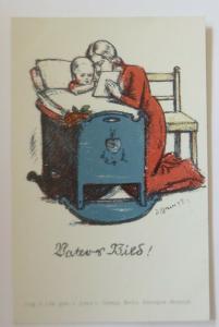 WW1 Kinder, Frauen,  Vaters Bild,    1915, Litho  ♥ (41162)