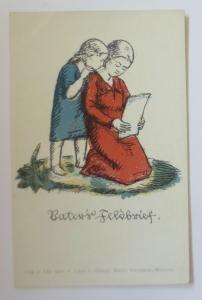WW1 Kinder, Frauen, Vaters Feldbrief,    1915, Litho  ♥ (41161)