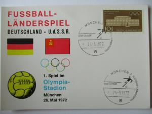 Fußball Länderspiel Deutschland-UDSSR 1972 (37719)