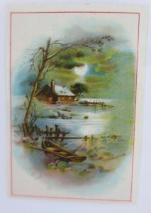 Kaufmannsbilder, See, Haus, Boot, M. Fraiture 1900 ♥