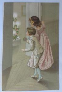 Weihnachten, Kinder, Bescherung, Weihnachtsbaum, Christkind, 1911 ♥ (34213)