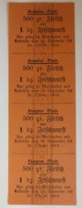 Lebensmittelkarten, Stadt Kempten  Fleisch Oktober 1920 ♥ (X80)