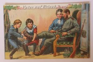 WW1 Vater auf Urlaub, Kinder,   1915  ♥ (41145)