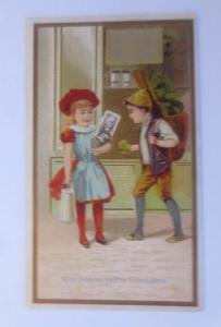 Kaufmannsbild, Kinder, Une bonne petite menagere  ♥