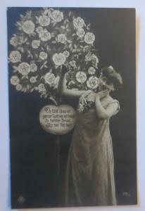 Frauen Mode, Jugendstil, Rosenbaum,   1907 ♥  (23643)