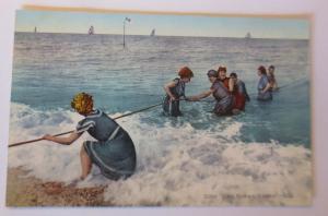 Bademoden, Frauen, Männer, Meer, Eine gute Welle, 1920, Frankreich ♥  (26265)