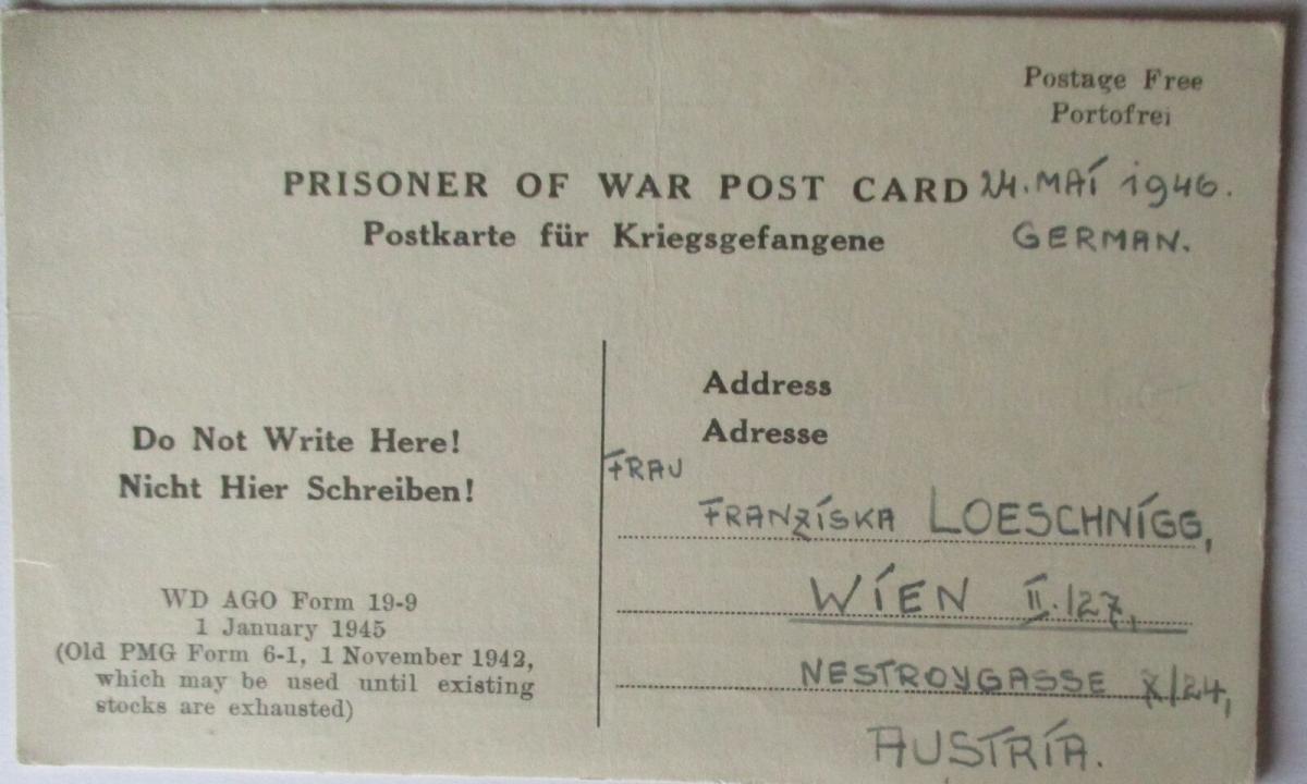 USA Italien Kriegsgefangenenpost POW Camp Naples Italy US PWE (48020) 0