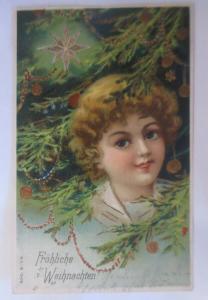 Weihnachten, Kinder, Mode, Weihnachtsbaum,  1900  ♥ (16453)