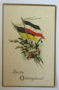 WW1 Ostern, Fahnen, Österreich-Deutschland, 1916  ♥ (9744)