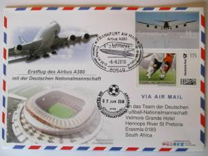 Fußball WM 2010, Erstflug A 380 mit der Nationalmannschaft (31122)