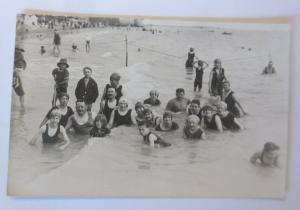 Bademoden, Frauen, Männer, Kinder, Meer,  1920 ♥  (9389)