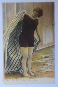 Bademoden, Frauen, In dem Meer, 1913, Frankreich ♥  (9180)