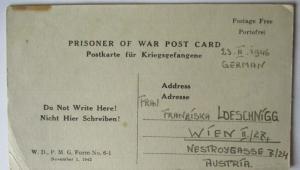 USA Italien Kriegsgefangenenpost POW Camp Naples Italy 1946 US PWE (39823)