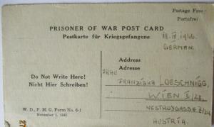 USA Italien Kriegsgefangenenpost POW Camp Naples Italy 1946 US PWE (39816)