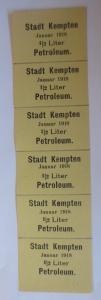 Lebensmittelkarten, Stadt Kempten  Petroleum Januar 1918 ♥ (X55)