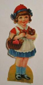 Oblaten, Kinder, Lebkuchen     1900,   8 cm x 3 cm  ♥