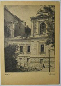 Österreich zerstörtes Wien 1945 Universität