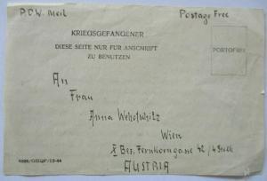 Großbritannien POW Mail Middle East nach Wien Österreich