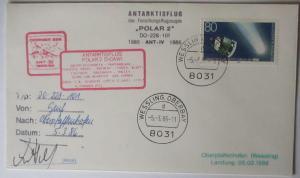 Antarktis Flug Polar 2 Brief 1986 Unterschrift Pilot (43664)