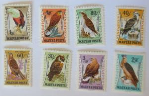 Ungarn 1881A-1888A (kompl.Ausg.) postfrisch 1962 Raubvögel ♥ (51271)