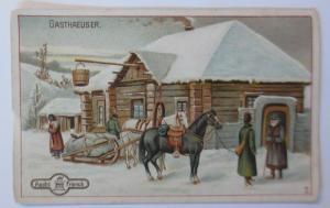 Kaufmannsbilder, Aecht Franck mit der Kaffeemühle,  Russisches Gasthaus♥