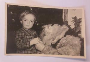 Weihnachten, Kinder, Weihnachtsmann,   1956, Foto ♥ (65721)