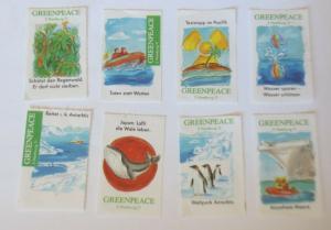 8 Reklamemarken Greenpeace Hamburg