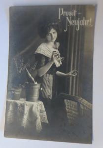 Neujahr, Frauen, Mode, Sekt,   1908 ♥ (16608)
