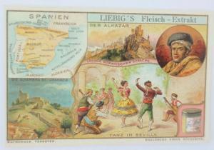 Liebig, Spanien, Der Alkazar, Tanz in Sevilla 1900  (68787)