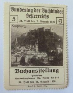 Vignetten, Bundestag der Buchbinder Österreichs 1926 ♥ (4082)