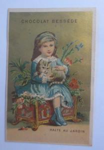 Kaufmannsbilder, Chocolat Bessede, Kinder, Katzen,    1900 ♥