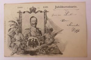 Jubiläumskarte Kaiser Wilhelm II.  1898, Verlag Otto Seiffert  ♥  (7987)