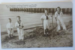 Prinz Hubertus u. Prinz Friedrich v. Preußen Söhne Mecklenburg  1915 ♥ (9495)