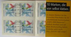 Bund Markenheftchen Expo 2000 MH 40 gestempelt (9763)