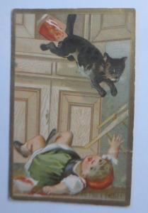 Kaufmannsbilder, Kinder, Katzen, Grand Hotel de L´Univers  1900 ♥