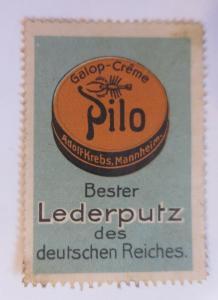 Vignetten Pilo Bester Lederputz Schuh Creme Adolf Krebs. Mannheim  ♥ (8220)