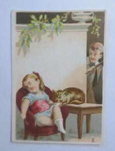 Kaufmannsbilder,   Kinder,  Katzen, 1900 ♥