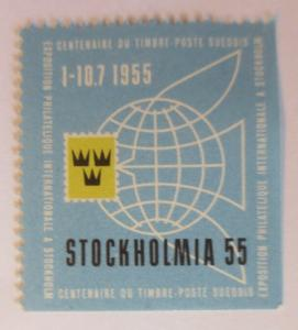 Vignetten Expostion Philatelique Internationale Stockholm 1955 ♥ (26387)